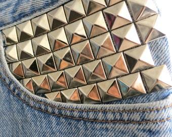The Vintage Customized Moto Pocket Stud Levi's Jean Shorts