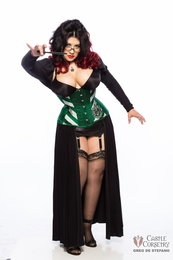 Wizarding Serpent Long Line Corset