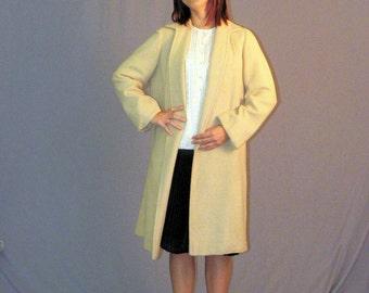 Mid Century Modern Cashmere 1960s Swing Wrap Coat