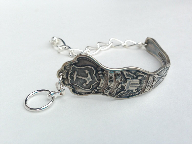 Rhode Island Bracelet Rhode Island Jewelry Spoon Bracelet