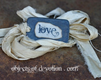 LOVE Necklace * Inspirational Jewelry * Religious Gift * Inspirational Necklace * Religious Jewelry * Indie Chic * Rustic Romance *