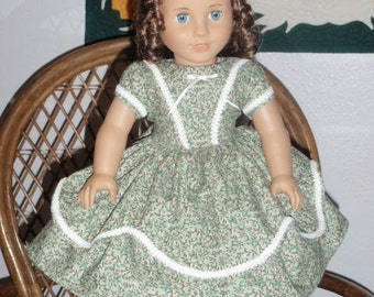 Mid 1800s Civil War Era Dress for American Girl Cecile Marie Grace Addy 18 inch dolls