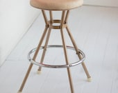 Vintage Coppertone, Chrome and Vinyl Cosco Counter Stool