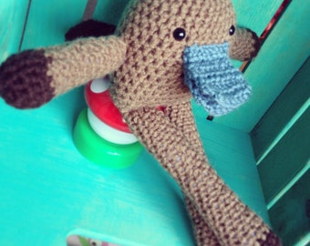 Crocheted Platypus Doll- Forest Friends Collection