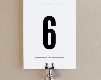 Instant Download - Nightlife - DIY Printable Table Numbers