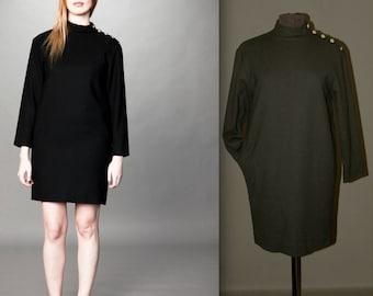 Vintage Evan-Picone Black Dress