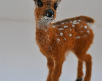 Needle felted animal. Deer fawn.  Made to order