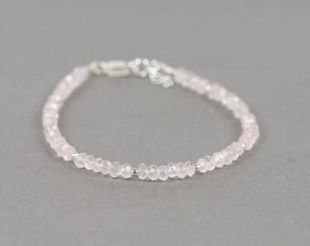 Pink Rose quartz bracelet