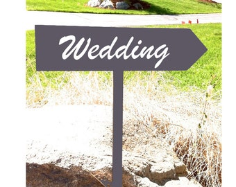 directional sign wedding sign wedding photo prop outdoor wedding sign personalized sign black and white wedding arrow directional arrow