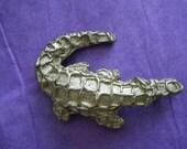 DKNY Alligator Brooch Donna Karan