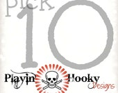 Pick any 10 Playin' Hooky Crochet Patterns
