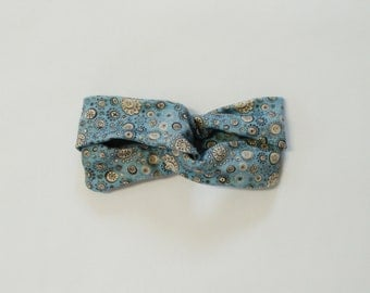 Organic Twisted Headband - Seed Pod Print - Teal