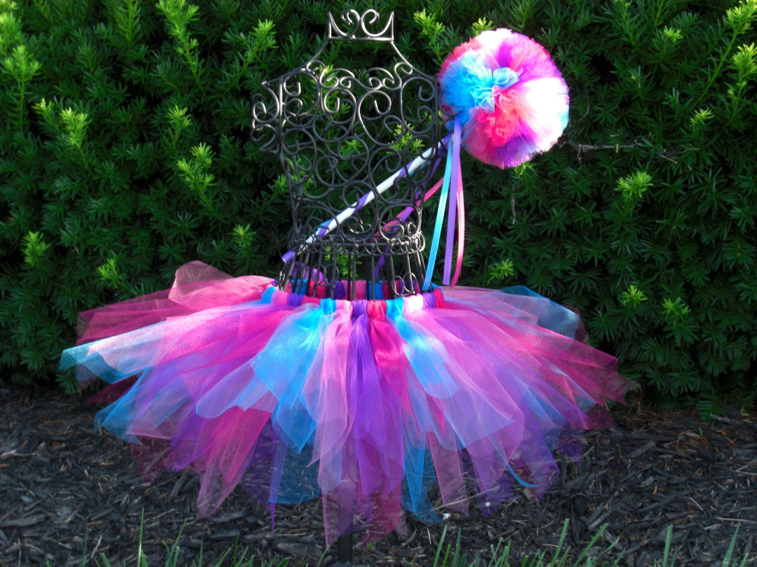 Abby cadabby tutu and wand setgirls birthday tutu fairy for Birthday wand