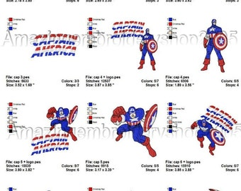 INSTANT DOWNLOAD - Captain America (1) - embroidery designs