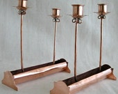Victoria of Taxco Copper Candle Holders - Pair