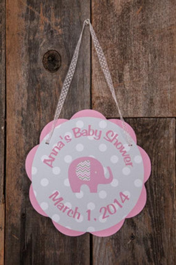 Elephant baby shower decorations elephant baby shower for Baby shower door decoration