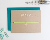 You Are My Anchor - Charm Card - Silver - friendship necklace & bracelet - nautical - bridesmaid gift - birthday - best friends - bff - love
