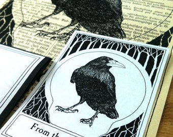 Booklabel Raven Black 25 Personalized Bookplates Ex Libris