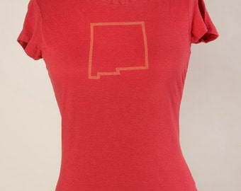 Women's Short Sleeve T Organic Bamboo/Cotton New Mexico Red
