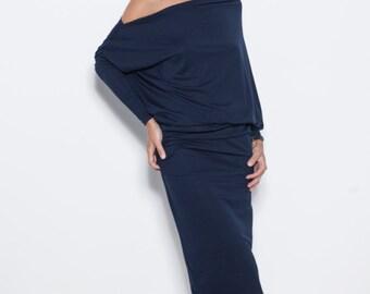 Evening dress | Long evening dress | Deep blue dress | LeMuse evening dress
