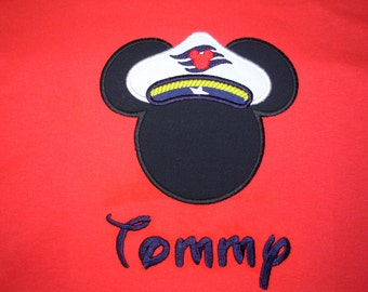 Mickey Mouse Captain Tshirt