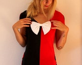 Halloween Harley Quinn Cosplay Costume Top with bow