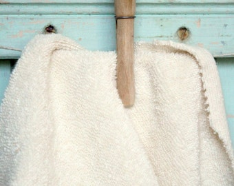 Organic Terry Cloth Fabric Fat Quarter - Natural Creamy Cotton Terrycloth Towel Made in the US