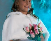 Faux Fur capelet  Flower Girl Jr Bridesmaid winter wedding cape Available in a variety of faux furs and colors