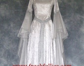 Elvira, a Medieval, Elvish, Faery, Celtic, Custom Made Wedding, Hand Fasting Dress