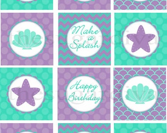 Cupcake Toppers, Under the Sea Cupcake Topper, Mermaid Cupcake Topper, DIY Mermaid Party Printable, Mermaid Birthday, Cupcake Decorations