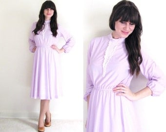 Lavender Dress / Vintage Day Dress