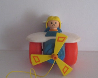 Fisher Price Helicopter Pull Toy/ Toddler Toys/ Pretend Play