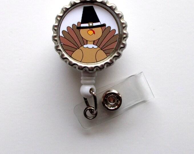 Turkey - Nursing Badge Holder - Nurse Badge Reel  - Name Badge - Teacher Badge Reel - Nurses Badge - Cute ID Badge Reel