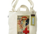 Recycled Cotton Tote Bag with Dual Handles- The Spirit of America Join the Red Cross