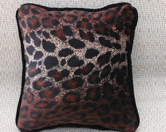 Animal Print Pillow, Small Throw Pillow, Rust and Black, Brown and Tan, Animal Print Accent Pillow, Small Toss Pillows, Safari Home Decor