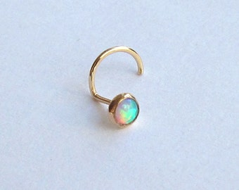 Opal / Gemstone of Your Choice 14k Gold Filled Nose Stud SPECIAL SALE