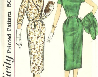 Simplicity 2460 / Vintage 50s Sewing Pattern / Dress And Bolero / Size 14 Bust 34