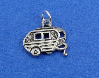 Camper RV Charm - Silver Plated Camper Charm for Necklace or Bracelet