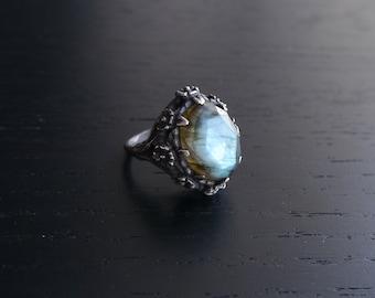Poseidon's Garden Ring - Labradorite and Sterling Silver