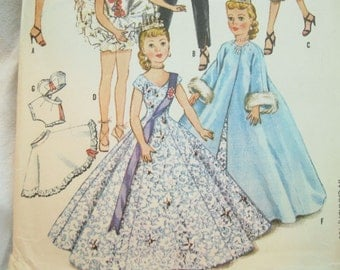 McCalls 2255 Doll Dress Wardrobe Vintage Sewing Pattern Size 22