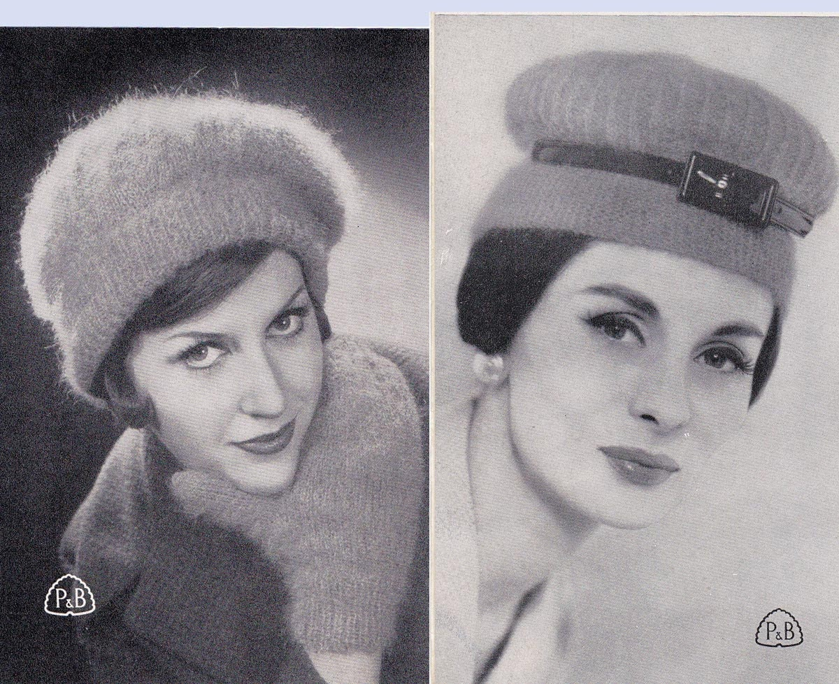 Lot of TWO 60s Australian Knitting patterns Books Hats