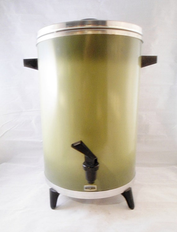 30 Cup West Bend Electric Percolator Olive Spring by ...