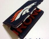 Denver Broncos Wallet NFL -  - business card holder, credit card holder, Vinyl ID Slot, gift card holder