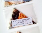 Paper Banner - Vintage Cookbook Pages - Triangle Bunting Garland