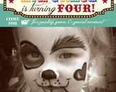 Circus Themed Birthday Party Invitation-Photo