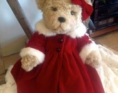 Carolina, Christmas Beauty Artist Bear, Genuine Mink Trimmed Coat