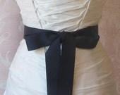 Navy Blue Grosgrain Ribbon, 1.5 Inch Wde, Dark Blue Ribbon Sash, Blue Bridal Sash, Wedding Belt, 4 Yards