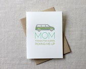 Minivan Mother's Day Card