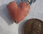 small black & orange sideloop heart
