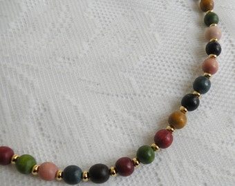 Earth Tones Wood Necklace